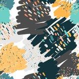 Teste padrão sem emenda dos garranchos na moda nas cores pastel Fotografia de Stock Royalty Free