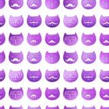 Teste padrão sem emenda dos gatos Vetor Gatos do triângulo do vetor Ca abstrato Fotos de Stock Royalty Free