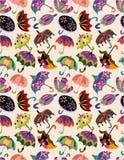 Teste padrão sem emenda dos guarda-chuvas Imagens de Stock