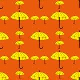 Teste padrão sem emenda dos guarda-chuvas Imagem de Stock Royalty Free