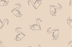 Teste padrão sem emenda dos guindastes de papel japoneses do origâmi Imagens de Stock Royalty Free