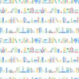 Teste padrão sem emenda dos livros coloridos - textura sem emenda dos livros de escola Imagem de Stock Royalty Free