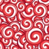 Teste padrão sem emenda dos lollipops dos doces Fotografia de Stock