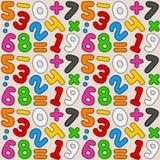 Teste padrão sem emenda dos números coloridos Fotos de Stock Royalty Free