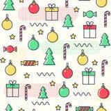 Teste padrão sem emenda dos nemphis do Natal do ano novo Fundo na moda abstrato ilustração royalty free