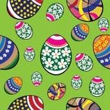 Teste padrão sem emenda dos ovos da páscoa Fotos de Stock