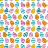 Teste padrão sem emenda dos ovos de Easter Fotografia de Stock Royalty Free