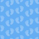 Teste padrão sem emenda dos pés do bebê Imagem de Stock