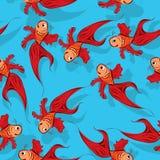 Teste padrão sem emenda dos peixes Fotografia de Stock Royalty Free