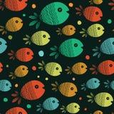 Teste padrão sem emenda dos peixes Foto de Stock