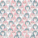 teste padrão sem emenda dos pinguins adoráveis ilustração do vetor