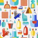 Teste padrão sem emenda dos produtos de limpeza Ilustração Stock