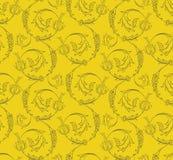 Teste padrão sem emenda dos redemoinhos florais Imagens de Stock Royalty Free