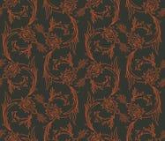Teste padrão sem emenda dos redemoinhos florais Imagem de Stock Royalty Free