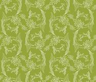 Teste padrão sem emenda dos redemoinhos florais Foto de Stock Royalty Free