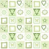 Teste padrão sem emenda dos retalhos com fundo geométrico dos elementos Foto de Stock