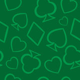 Teste padrão sem emenda dos símbolos dos cartões de jogo Ilustração Stock