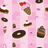 Teste padrão sem emenda dos Sweeties Fotos de Stock