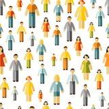 Teste padrão sem emenda dos trabalhos em rede sociais Imagens de Stock