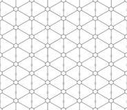Teste padrão sem emenda dos triângulos e dos hexágonos Imagens de Stock