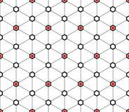 Teste padrão sem emenda dos triângulos e dos hexágonos Imagem de Stock