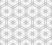 Teste padrão sem emenda dos triângulos e dos hexágonos Fotografia de Stock Royalty Free