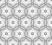Teste padrão sem emenda dos triângulos e dos hexágonos Imagens de Stock Royalty Free
