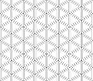 Teste padrão sem emenda dos triângulos e dos hexágonos Fotos de Stock Royalty Free