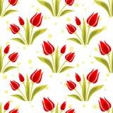 Teste padrão sem emenda dos Tulips Foto de Stock Royalty Free