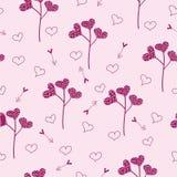 Teste padrão sem emenda dos Valentim do St Fotografia de Stock Royalty Free