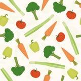 Teste padrão sem emenda dos vegetais Imagens de Stock