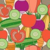 Teste padrão sem emenda dos vegetais Imagem de Stock