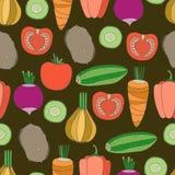Teste padrão sem emenda dos vegetais Foto de Stock Royalty Free