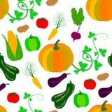 Teste padrão sem emenda dos vegetais ilustração do vetor