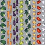 Teste padrão sem emenda dos vegetais diagonalmente Imagens de Stock