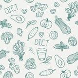 Teste padrão sem emenda dos vegetais Fundo saudável comer Imagem de Stock Royalty Free