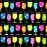 Teste padrão sem emenda dos vidros de cocktail ilustração do vetor