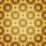 Teste padrão sem emenda dourado da parede Foto de Stock Royalty Free