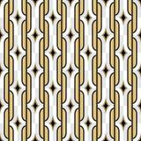 Teste padrão sem emenda dourado do papel de parede do vintage de Art Deco De geométrico Imagem de Stock Royalty Free