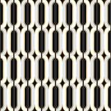 Teste padrão sem emenda dourado do papel de parede do vintage de Art Deco De geométrico Fotografia de Stock