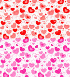 Teste padrão sem emenda duplo dos corações Fotografia de Stock Royalty Free