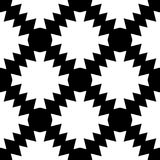 Teste padrão sem emenda e geométrico preto e branco imagens de stock royalty free