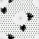 Teste padrão sem emenda elegante preto e branco Imagem de Stock