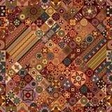 Teste padrão sem emenda Elementos decorativos do vintage Fundo tirado mão Islã, árabe, indiano, motivos do otomano Fotografia de Stock Royalty Free
