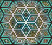 Teste padrão sem emenda Elementos decorativos do vintage Fundo tirado mão Islã, árabe, indiano, motivos do otomano Aperfeiçoe imp Foto de Stock