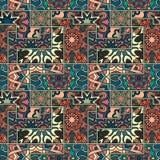 Teste padrão sem emenda Elementos decorativos do vintage Fundo tirado mão Islã, árabe, indiano, motivos do otomano Aperfeiçoe imp Imagens de Stock Royalty Free