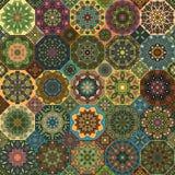 Teste padrão sem emenda Elementos decorativos do vintage Fundo tirado mão Islã, árabe, indiano, motivos do otomano Aperfeiçoe imp Imagens de Stock