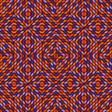 Teste padrão sem emenda em cores tradicionais de Dia das Bruxas com o ornamento geométrico do caleidoscópio Fundo do mosaico do v Fotografia de Stock