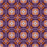 Teste padrão sem emenda em cores tradicionais de Dia das Bruxas Fundo abstrato com os ornamento étnicos brilhantes Fotos de Stock