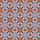 Teste padrão sem emenda em cores tradicionais de Dia das Bruxas Fundo abstrato com os ornamento étnicos brilhantes Fotos de Stock Royalty Free
